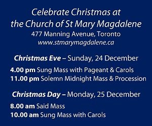 St Mary Magdalene - Dec 25