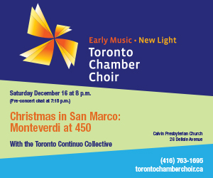 Toronto Chamber Choir - Dec 16