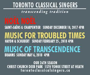 Toronto Classical Singers - Dec 2017