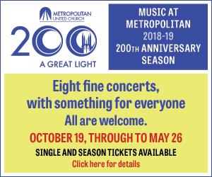 Music at Metropolitan - 10/8/2018