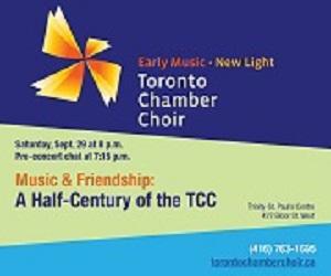 Toronto Chamber Choir - 9/30/2018