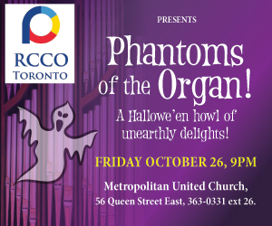 Royal Canadian College of Organists - 10/27/2018