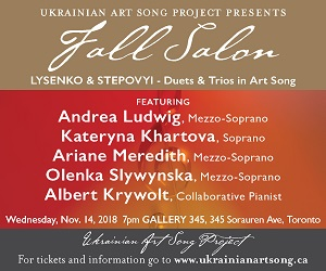 Ukrainian Art Song Project - 11/15/2018