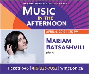 Women's Musical Club of Toronto - 4/5/2019