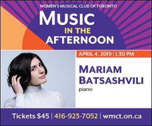 Women's Musical Club of Toronto - 4/5/2019
