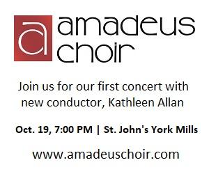 Amadeus Choir - 10/8/2019