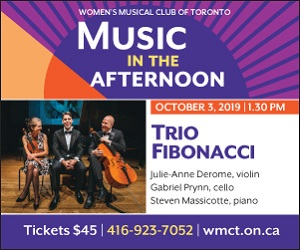 Women's Musical Club of Toronto - 10/4/2019