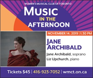 Women's Musical Club of Toronto - 11/15/2019