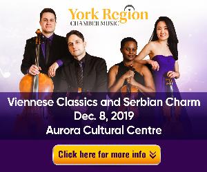 York Region Chamber Music #1 - 12/9/2019