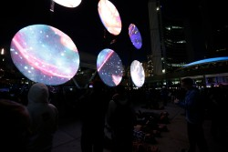 Sound and art installation World Without Sun by Christine Davis, from Nuit Blanche 2012.