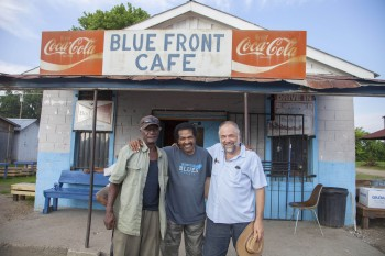 "Jimmy ""Duck"" Holmes, Bobby Rush and writer-director Daniel Cross CREDIT Ryan Mullims"