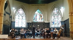 The Toronto Mozart Players in rehearsal. Photo by the author.