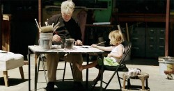 David Lynch and his daughter Lula.