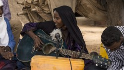Fatou Seidi Gahil performing in Illighadad, Niger in A Story of Sahel Sounds.