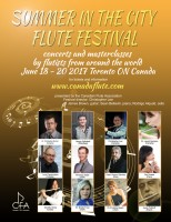 Canadian Flute Association Summer in the City Flute Festival
