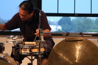 Percussionist Tatsuya Nakatani, who opens the first concert of TONE. Credit: Jonathan Sielaff.