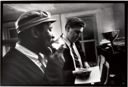 Thelonious Monk (left) and Hall Overton.