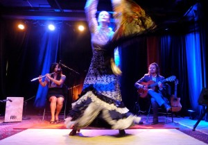 Fin de Fiesta Flamenco, in performance at the Small World Music Centre.