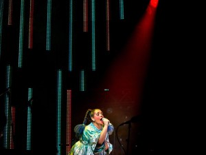Lido Pimienta performing during the Polaris Music Prize gala in Toronto on Monday, September 18, 2017. Photo credit: Chris Donovan / The Canadian Press.