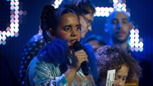Lido Pimienta at the Polaris Music Prize gala in Toronto on Monday, September 18, 2017. Photo credit: Chris Donovan / The Canadian Press.
