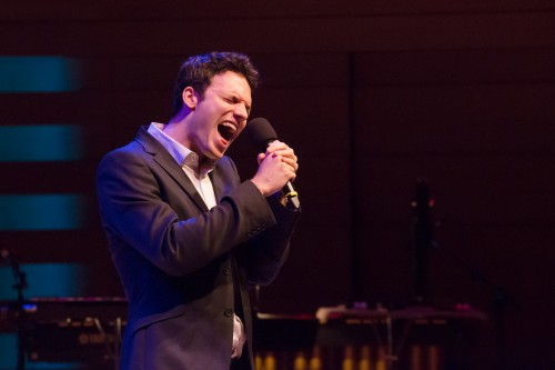 Jake Epstein performing Only the Good Die Young in Uncovered: Elton John & Billy Joel - Photo by Joanna Akyol
