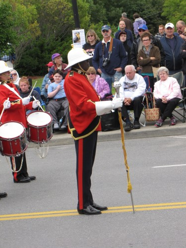 Drum major Colin Rowe with the Cobourg Concert Band in Plattsburgh NY, 2013 - Photo by Jack MacQuarrie