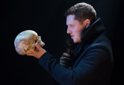 Noah Reid as Hamlet, at the Tarragon Theatre. Photo credit: Cylla von Tiedemann.