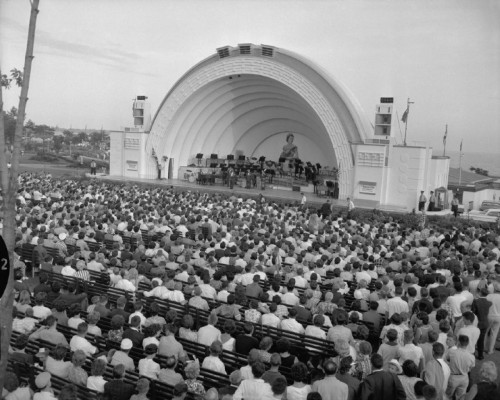 CNE Bandshell in the late 1950s