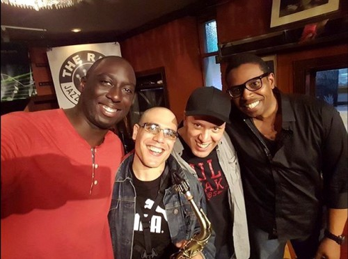 rinsethealgorithm at The Rex (from left): Larnell Lewis (drums), Luis Deniz (alto sax), Robi Botos (piano) and Rich Brown (electric bass)