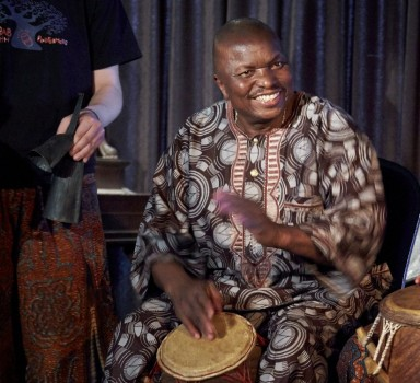 Master drummer Kwasi Dunyo leads ensembles in both festivals.
