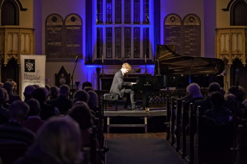 Pianist Jan Lisiecki in performance at Bravo Niagara! on March 10. Photo credit: Jerry Placken.