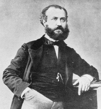 Charles Gounod as photographed in 1859, at the time of the premiere of his opera Faust.