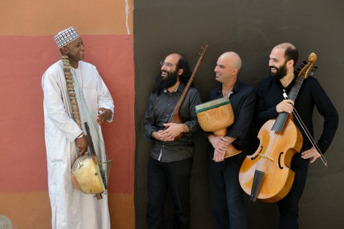 Ablaye Cissoko (left) and Ensemble Constantinople - photo by Michael Slobodian