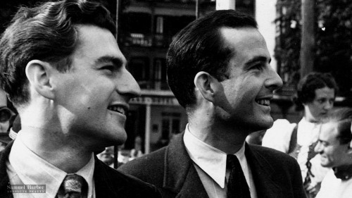 Gian Carlo Menotti (left) and Samuel Barber in the summer of 1936 from 'Absolute Beauty' - photo by HP Moon
