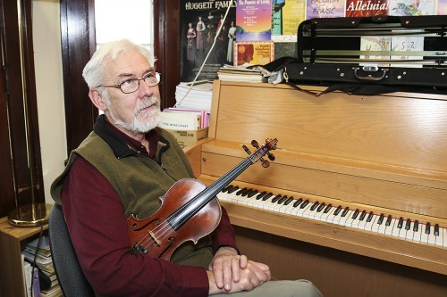 Imant Ranish in his studio at the Vernon Community Music School - photo: Parker Crook/Vernon Morning Star