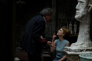 Geoffrey Rush (left) and Clémence Poésy in Final Portrait. Photo credit: Parisa Taghizadeh, courtesy of Sony Pictures Classics.