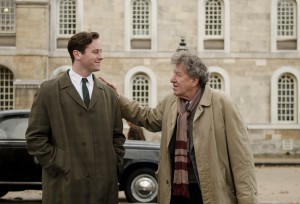 Armie Hammer (left) and Geoffrey Rush in Final Portrait. Photo credit: Parisa Taghizadeh, courtesy of Sony Pictures Classics.