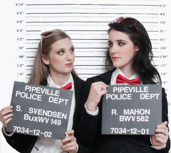 "Sarah Svendsen and Rachel Mahon as Organ Duo, ""Organized Crime"""