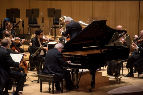 Pianist Emanuel Ax with Peter Oundjian and the TSO. Photo credit: Nick Wons.
