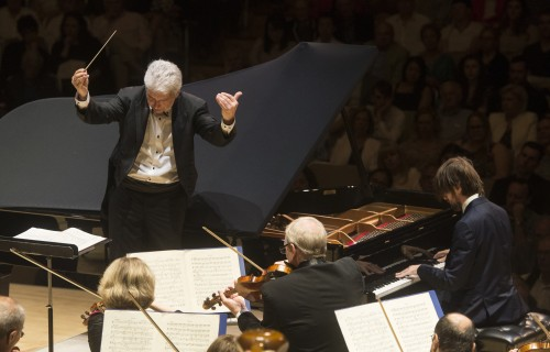 Oundjian conducting the TSO and pianist Daniil Trifonov. Photo credit: Jag Gundu.