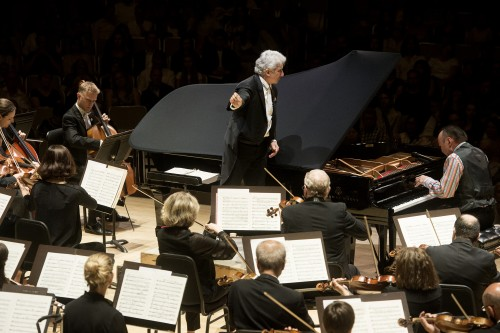 Peter Oundjian conducting Jon Kimura Parker and the TSO. Photo credit: Jag Gundu.