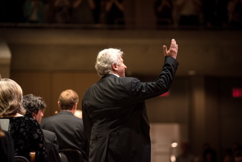 Peter Oundjian says goodbye. Photo credit: Nick Wons.