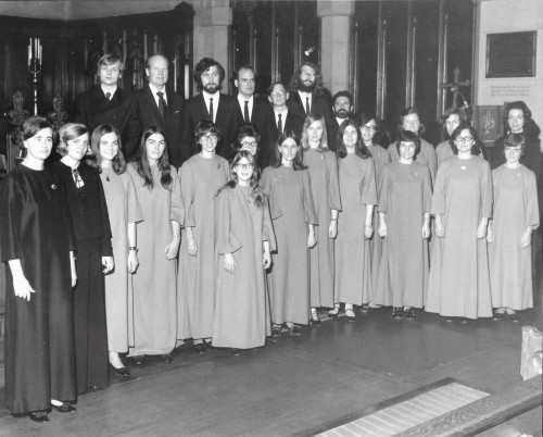 Fifty years ago, all it took was a few friends around Annegret Wright (far left) to start a new choir.