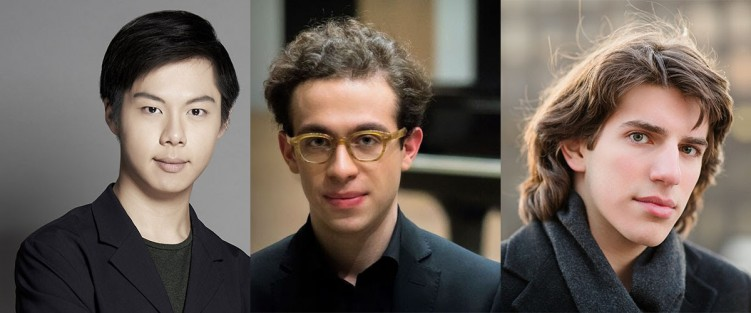 Han Chen (Taiwan / age 26), Nicolas Namoradze (Georgia / age 26), and Llewellyn Sanchez-Werner (United States / age 21), will vie for the title of Honens Prize Laureate.