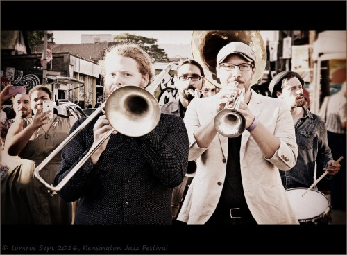 The Heavyweights Brass Band return to this year's Kensington Market Jazz Festival. Photo by Tom Rose.