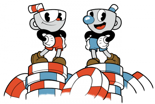 Cuphead title screen