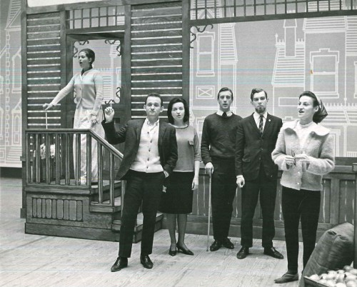 Members of the cast of the 1964 production of Britten's Albert Herring, performed March 4 and 6 as part of the opening ceremonies of the Edward Johnson Building. Photo credit University of Toronto.