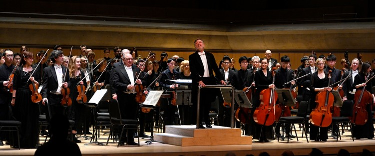 Sir Andrew Davis with the TSO and TSYO on February 6. Photo credit: Jag Gundu.
