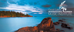 Great Lakes International Summer Music Institute