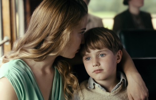 Saskia Rosendahl as Elisabeth May and Cai Cohrs as Young Kurt Barnert. Photo credit: Caleb Deschanel, courtesy of Sony Pictures Classics.